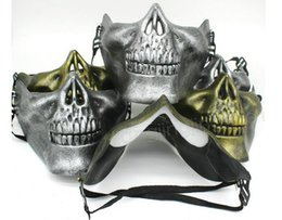 Paintball online shopping - CS Skull Skeleton Mask Airsoft Paintball Lower Half Face Protective Mask For Halloween Carnival Party Gift DDA611