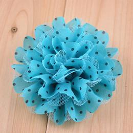 $enCountryForm.capitalKeyWord Australia - Wholesale cheap 11cm dot CHIFFON FLOWER FLOWER BROOCH accessories.