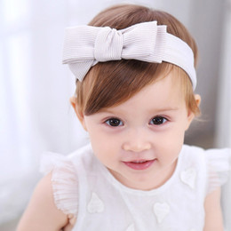 fa637dd76375 1 PC Girls Cute Headbands Striped Bowknot Hair Accessories For Girls Hair  Band clips for kids flower bow knot bandage