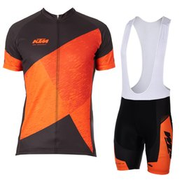 9bc3305579f 2018 KTM Cycling Jersey Set Summer Mtb Bike Clothing Mens Bicycle Short  Sleeves shirts 3D Bib Shorts Suit Maillot Ciclismo Sportswear F2742