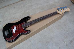 Metal String Guitars Australia - Free shipping High Quality 2019 New Custom 4 Strings precision bass Metal black BASS Guitar