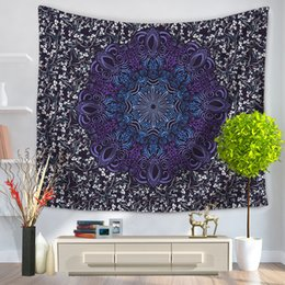 Discount hang curtain wall - Customized Design Make Bohemian Mandala Tapestry Wall Hanging Home Decor Polyester Beach Towel Tapestries Polyester Curt