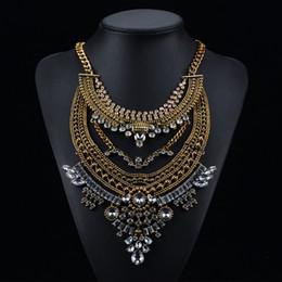 055c19231b20 Nueva Exageración Vintage Rhinestone Collares Grandes Colgantes Collar  Bohemio Declaración Collares Accesorios de Moda
