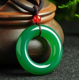 $enCountryForm.capitalKeyWord NZ - Yu Xin Yuan Fine Jewelry Green Jade Medullary Round Pendant Lucky Blessing Women Men Necklace Gifts Hot 2017