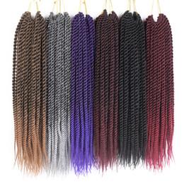 "$enCountryForm.capitalKeyWord UK - TOMO 12""14""16""18""20""22"" Crochet Braids Senegalese Twist Hair 22Roots Pack Ombre Synthetic Kanekalon Crochet braid Braiding Hair Extensions"