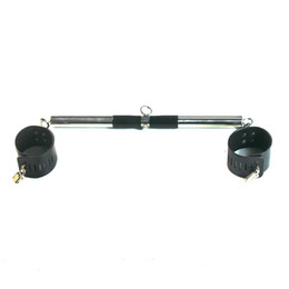 Spreader toy online shopping - Portable stainless steel adjustable length spreader bar with cuffs for wrists or ankles restraint and suspend sex toy sex product