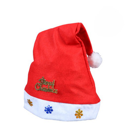 Red Party Decorations Australia - 5 Style Red Santa Claus Hat Ultra Soft Plush Christmas Cosplay Hats Christmas Decoration Adults Christmas Party Hats