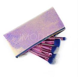 $enCountryForm.capitalKeyWord UK - NEW Makeup Cosmetic Bag Laser Symphony Color Fish Mermaid Scale PU Makeup Brush Zipper Bag without logo