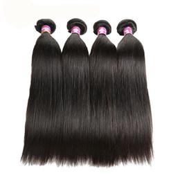 Indian Women Long Hair NZ - NEW Human Hair for Black women Long Straight hair Virgin Hair Bundles 8~26in Brazilian Long Straight Extensions Indian Peruvian Malaysian