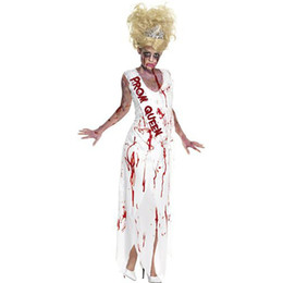 Tv Clothes NZ - 2018 new cosplay vampire death party costume party dress dress white devil woman play clothes terrible sexy clothing