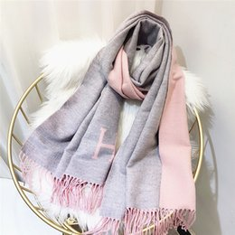 warming scarf Canada - Women solid color scarves with tassel lady winter thick warm scarf high quality female shawl hot sale 180*70cm Long Mufflers Pashmi