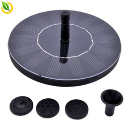 solar panels home system 2018 - 1.4W Home Garden Solar Pump System PV Floating Fountain Home Swimming Pool Fish Tank Water Cycle System With Mono Solar