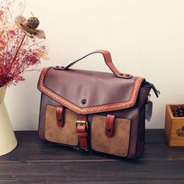 Ladies Briefcase Handbags Australia - Steampunk british women bags Steam Punk Retro Handbags lady shoulder bag working briefcase pure color