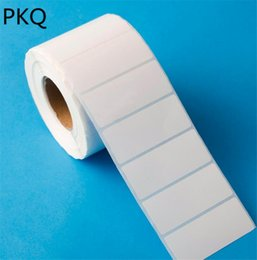 thermal sticker paper 2019 - 2000pcs Roll 10x3cm 10x2cm Adhesive Thermal Label Paper Single row Blank white sticker label Supermarket Price Blank che