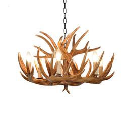 $enCountryForm.capitalKeyWord Australia - Antler chandelier living room resin lamp Suspension light For clothing store bar restaurant creative antler Home lighting G189