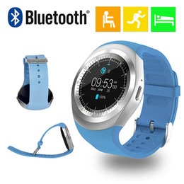 $enCountryForm.capitalKeyWord Canada - Y1 Smart Watch Round Sharp Support Nano SIM with Whatsapp Facebook Business Smartwatch Push Message For IOS Android Phone Free Shipping