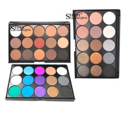 Chinese  15 Colors Eyeshadow Palettes Gorgeous Silky Powder Professional Natural Make up Palette Smoky Warm Matte Shining Eye Shadow manufacturers