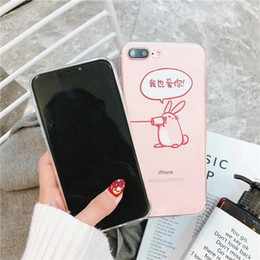 Painting Faces UK - for iphoneX 8plus 7 6s Phone Case Shell akitas Soft TPU painting kawaii Smiling face Embossed Relief Transparent siliconeThe pig rabbit