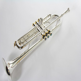 silver plating trumpets NZ - Silver Plated TR-197GS Trumpet Professional Musical Instruments Supply