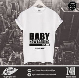 372dae63b1b2f Baby Loading T Shirt Shower Mommy Family Parents Maternity Pregnancy Gift  free shipping cheap tee Fashion Style Men Tee