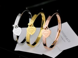 $enCountryForm.capitalKeyWord Australia - Quality Celebrity design Silverware Silver beads bracelet Heart-shaped metal Bracelets Jewelry With dust bag Box