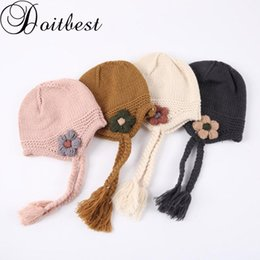 $enCountryForm.capitalKeyWord NZ - Doitbest 1 to 4 Years old kids Beanies Little flower braid baby boys Knitted hats warm winter knit kid girls Earflap Caps