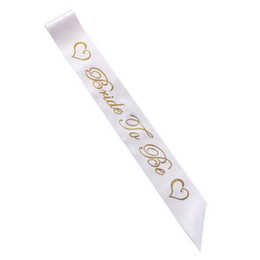 Chinese  For Bachelorette Women Sashes Gold Letter Bride To Be Satin Sash Bridal Shower Wedding Hen Party Decoration Supplies Creative 1 7hp BB manufacturers
