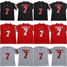 ohio state jerseys 2019 - Blackout #7 Dwayne Haskins Jr. #97 Nick Bosa #15 Elliott White Red Black Color Ohio State Buckeyes College Stitched Jers