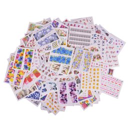 Chinese  ater stickers nail 200PCS Mixed Water Sticker Nail Art Decorations Mixed Flower Cartoon Fruit Summer Polish Gel Manicure Tips Set STZ001-... manufacturers