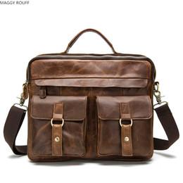 $enCountryForm.capitalKeyWord Canada - Genuine Men's handbag Small Shoulder Messenger Bag Cowhide Men Crossbody Bag Mens Travel Bags Laptop Briefcase For