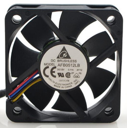 intel speed UK - Wholesale: original delta AFB0512LB DC12V 0.11A 5015 50*50*15mm 4 pin PWM mute fan speed