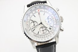 Discount mens swiss chronograph luxury watches - Hot Sale Luxury Swiss Brand Watches Chronometre NAVITIMER Quartz Chronograph Watch Mens Cassic Wristwatch White Dial Lea