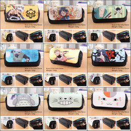 $enCountryForm.capitalKeyWord NZ - anime ONE PIECE NARUTO TOTORO Natsume YuujinchouPencil Bag Double Pencil box Stationery Cosmetic Make-up Bags Cases 9 style