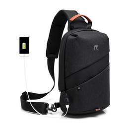 Single Shoulder Strap Packs Australia - Men Crossbody Bag Messenger Chest Bag Pack Men Sport Casual Waterproof Nylon Single Shoulder Strap Pack Outdoor Travel
