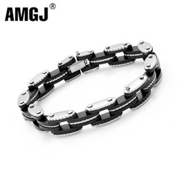 Bicycling Gear Australia - AMGJ Stainless Steel Silicone Bracelet Bangle for Women Gear Pattern Motorcycle Bicycle Chain Bracelet Punk Party Jewelry