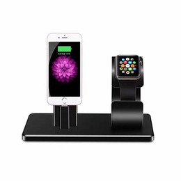 Wholesale 2 in Charging Cradle Brack For iPhone S Plus S For Apple Watch Station USB Charger Dock Stand Holder Desktop