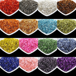 $enCountryForm.capitalKeyWord Australia - Multi Color Silver Lined Bugle Czech Glass Seed Spacer Beads 1000pcs lot Austria Crystal Long Tube Beads For Jewelry Making DIY