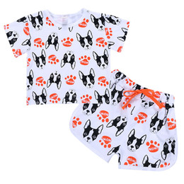 $enCountryForm.capitalKeyWord UK - New Boy Suits Boys' Summer Wear Shorts sleeve t shirt +pant Children's Cartoon Dogs Two Pieces of Cotton Kids Clothing 2-6 Ages