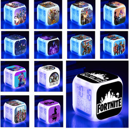 Table clocks online shopping - Fornite Alarm Clock With Led Colorful Color Digital Clock Colorful Flash Touch Light Desktop Desk Table Clocks Xmas Gift WX9