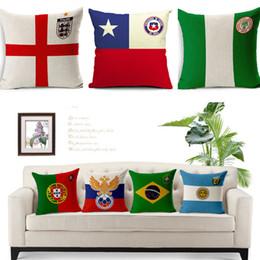 World cars online shopping - Russia World Cup National team emblems Pillow Case Head Pillow Cover Cushion Cases Face Pillowcases Home Sofa Car Decor T1I330
