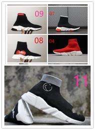 2018 NUOVO BAL * NCI * GA Calza scarpe da corsa Velocità Scarpe da ginnastica di alta qualità Scarpe da ginnastica Calzini da gara Scarpe nere Scarpe sportive Scarpe da tennis luzedan in Offerta
