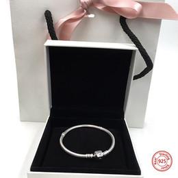 $enCountryForm.capitalKeyWord Australia - NEW! Perfect Charm logo Engraved S925 Silver bangle s bracelet women chain pendant pulsera iconic jewelry DIY,1pz