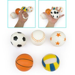 world cup toys NZ - World Cup Mini Squishy Football Basketball Baseball Volleyball 8CM Squishies Fragrant Squeeze Ball Decompression Toy Gifts Wholesale