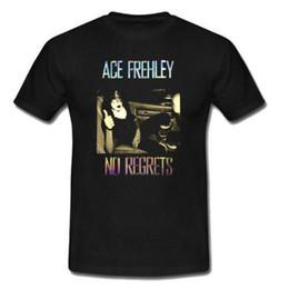 Vente en gros KISS ACE FREHLEY ROCK BAND T-shirt Coton Noir Homme T-shirt Taille S à 3XL Nouveau Drôle Marque Vêtements T-Shirt À Manches Courtes Hommes