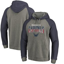 Men s Washington Capitals Fanatics Branded Heathered Gray Heathered Navy  Freedom Tri-Blend Raglan Ice Hockey Pullover Hoodies Sweatshirts b37553395