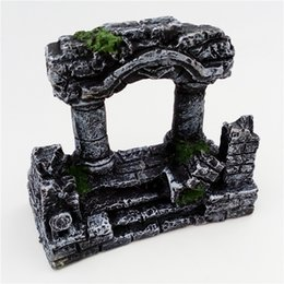 $enCountryForm.capitalKeyWord UK - Aquarium Decoration Resin Rome Square Stone Pillars Aquarium Landscaping Fish Tank Ornament Decoration Landscape Decorative 1pcs