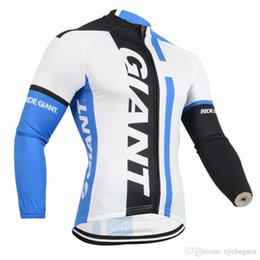 Discount shrink polyester jacket - 2018 Giant team Cycling Jersey Maillot Ciclismo long Sleeve Ropa Ciclismo Quick-Dry Race MTB Bike cycling clothing bicyc