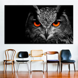 Wholesale Large size Printing Oil Painting owl eye Wall painting Decor Wall Art Picture For Living Room painting No Frame