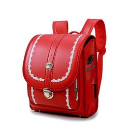 Children School Bag For Boy And Girl Backpack waterproof PU Japan Randoseru Bag  Kids Orthopedic Bookbags Mochila Escolar New 21a56b77a5