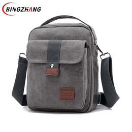 $enCountryForm.capitalKeyWord Canada - New Men Crossbody Bag Canvas Small Quality Canvas Grey Shoulder Messenger Bags Handbag Chest Pack Bags for Boy Teenagers L4-3242